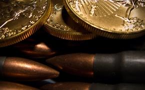 Wallpaper bullets, macro, cartridges, coins