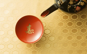 Wallpaper kettle, Japan, Cup, red, the tea party, tradition