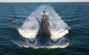 Picture the fourth generation, The Atlantic ocean, US NAVY, Virginia, multi-purpose submarines, SSN-774