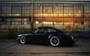 Picture 911, Porsche, black, 964, Carrera 2