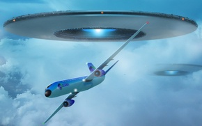 Picture UFO, The plane, 151, maneuver
