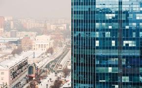 Picture winter, snow, street, skyscraper, Ural, Chelyabinsk, the urban landscape, Arbat, Kirovka
