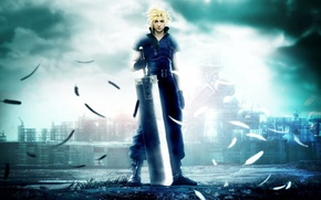 Picture sword, guy, final fantasy