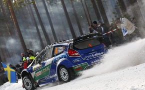 Picture snow, 2012, Sweden, ford, Sweden, rally, rally, wrc, snow, fiesta, Petter Solberg