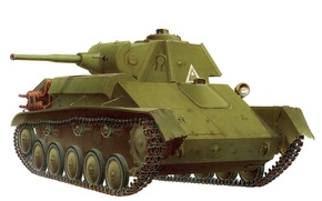 Picture art, tank, Soviet, easy, period, The second world war, T-70M