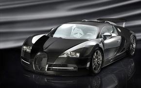 Picture background, black, bugatti