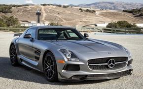 Picture Mercedes-Benz, AMG, Black, SLS, Series