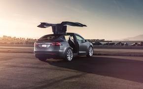 Picture Car, Model, Tesla, Rear, Electric, Doors, X P90D