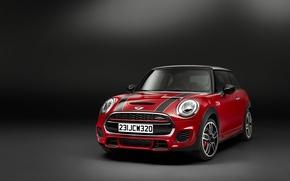 Picture photo, Mini, Car, Burgundy, John Cooper Works, 2014, Metallic