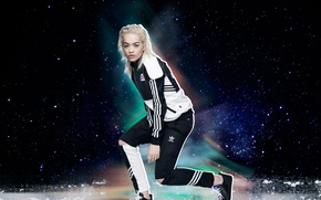 Picture model, clothing, advertising, blonde, costume, singer, photoshoot, Adidas, brand, Rita Ora, Rita Ora, Originals, 2015