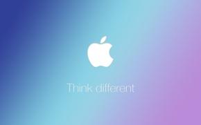 Picture Apple, Apple, logo, slogan, Think different
