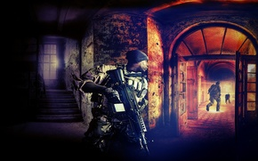 Picture art, soldiers, DICE, Battlefield 4