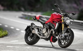 Picture red, Ducati, Monster, moto, road, bike, Legend, classic