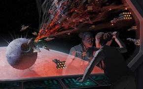 Picture star wars, Star Destroyer, art, spaceship, Leia Organa, death star, Alderaan Cruiser