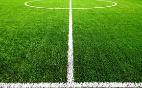 Wallpaper football, field, markup, grass, center, lawn