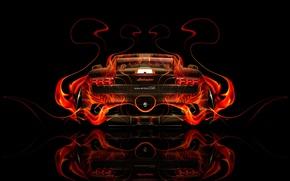 Wallpaper Auto, Black, Lamborghini, Fire, Machine, Orange, Wallpaper, Background, Orange, Flame, Gallardo, Car, Fire, Art, Abstract, ...