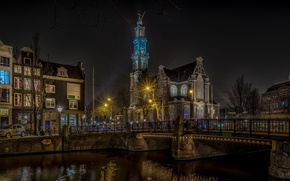 Picture night, home, Amsterdam, Netherlands, The Westerkerk, The Western Church