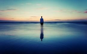 Picture sky, sea, alone, horizon