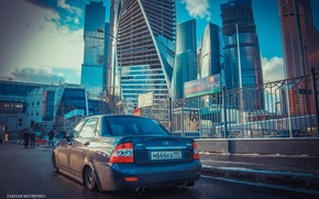 Picture machine, auto, home, Moscow, auto, LADA, Priora, VAZ, BPAN, Prior