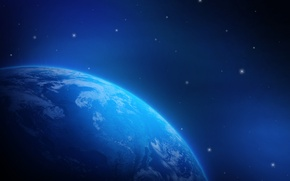 Picture space, planet, stars, Earth