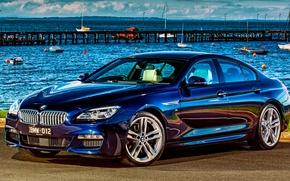 Picture beach, shore, BMW, coupe, BMW, Gran Coupe, Sport, F06, AU-spec, 650i, 2015, 6-Series