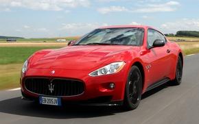 Picture machine, red, Maserati, the front, GranTurismo S, MC Sport Line