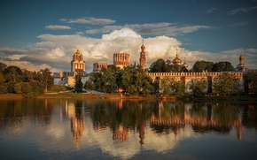 Picture river, Moscow, the monastery, women's, Novodevichy