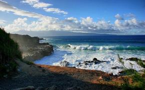 Picture sea, water, stones, the ocean, rocks, shore, landscapes