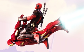 Picture costume, weapon, katana, Deadpool, mercenary, Beauroyre Blades