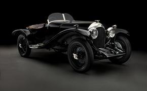 Picture Bentley, black background, Brooklands, Bentley, 1925