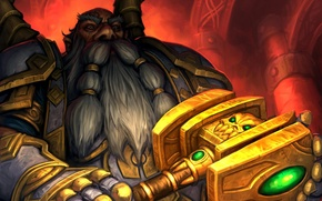 Picture map, hammer, art, WoW, World of Warcraft, dwarf, Hearthstone, Arsenal21, Judgement of light, Light's Justice