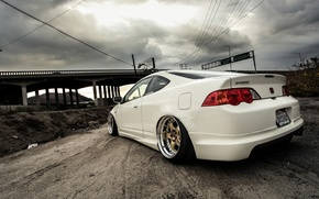 Picture road, machine, auto, bridge, Honda, Acura RSX, Integra