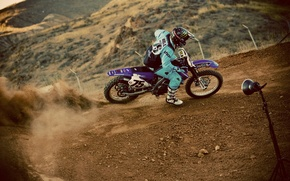 Picture race, dust, pilot, motocross, extreme sports