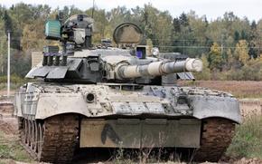 Wallpaper army, Т80У, Russia, tank