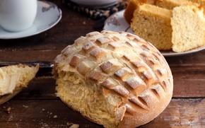 Picture bread, dishes, still life