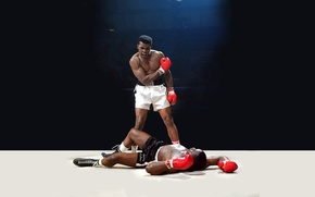 Picture light, anger, knockout, blow, the ring, legend, boxer, Mohammed Ali