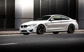 Picture BMW, turbo, white, Coupe, power, germany, angel eyes, F82.tuning