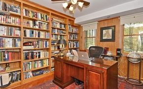 Picture design, style, room, interior, library, office