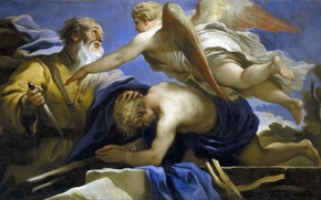 Picture picture, religion, mythology, Luca Giordano, The Sacrifice Of Isaac