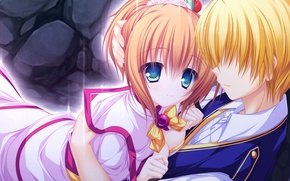 Picture girl, meeting, anime, guy, two, date