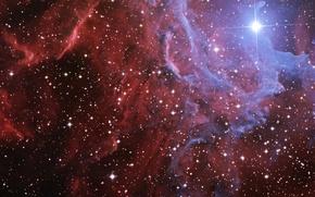Wallpaper space, nebula, flame, star, IC 405, the blazing star, Flamming nebula