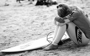 Picture beach, girl, Girl, surfing, beach, the excitement, surfing, experience, surfboard, surfboard, disorder, excitement, experience, disorder