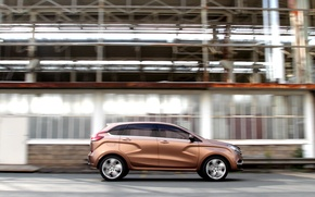 Picture the concept, car, Golden, Lada, Lada, crossover, X-ray, Rengen