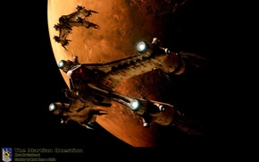 Picture planet, spaceships, Fury, SA–23, the martian question, Fighter(star fiter), The Earth Alliance, Babylon 5(Babylon 5)
