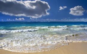 Picture wave, clouds, the ocean, horizon, Lazur, Ocean splendour