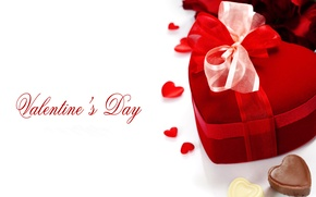 Picture photo, holiday, heart, candy, gifts, bow, Valentine's day