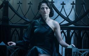 Wallpaper cinema, Underworld, dress, movie, vampire, brunette, film, Lara Pulver, Underworld: Blood Wars, Blood Wars