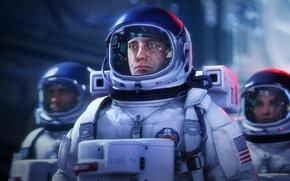 Picture astronaut, the suit, helmet, Astronauts