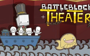 Picture Water, The game, Ship, Heroes, Water, Game, Unit, Ship, Characters, The Behemoth, BattleBlock Theater, 2D …