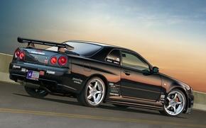 Picture Nissan, Skyline, r34
